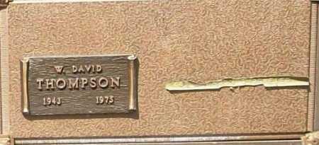 THOMPSON, W. DAVID - Benton County, Arkansas   W. DAVID THOMPSON - Arkansas Gravestone Photos