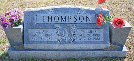 THOMPSON, WILLIE G - Benton County, Arkansas | WILLIE G THOMPSON - Arkansas Gravestone Photos