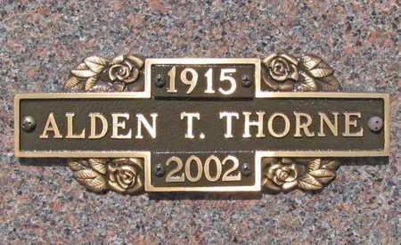 THORNE, ALDEN T - Benton County, Arkansas | ALDEN T THORNE - Arkansas Gravestone Photos