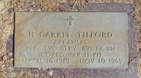 TILFORD (VETERAN WWII), H. GARRIT - Benton County, Arkansas | H. GARRIT TILFORD (VETERAN WWII) - Arkansas Gravestone Photos