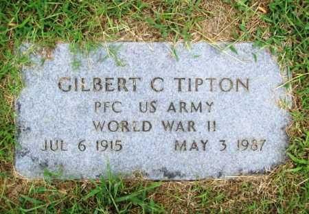 TIPTON (VETERAN WWII), GILBERT C - Benton County, Arkansas   GILBERT C TIPTON (VETERAN WWII) - Arkansas Gravestone Photos