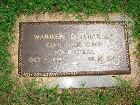 TOBUREN (VETERAN 2 WARS), WARREN D. - Benton County, Arkansas | WARREN D. TOBUREN (VETERAN 2 WARS) - Arkansas Gravestone Photos