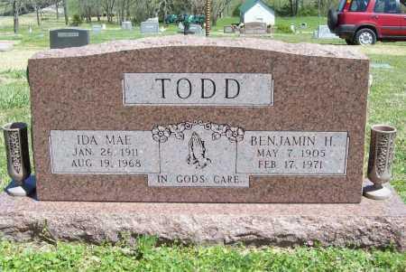TODD, IDA MAE - Benton County, Arkansas | IDA MAE TODD - Arkansas Gravestone Photos