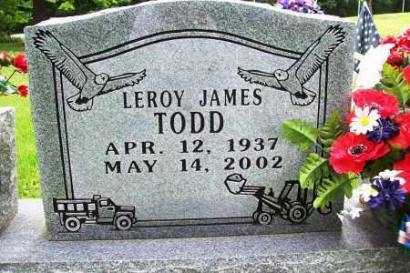 TODD, LEROY JAMES - Benton County, Arkansas | LEROY JAMES TODD - Arkansas Gravestone Photos