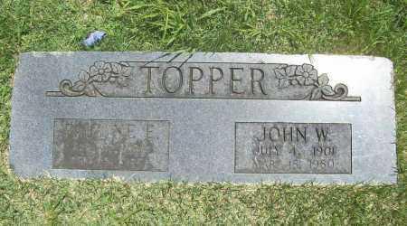 TOPPER, JOHN WILLIAM - Benton County, Arkansas | JOHN WILLIAM TOPPER - Arkansas Gravestone Photos