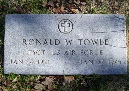 TOWLE (VETERAN 2 WARS), RONALD WINTHROP - Benton County, Arkansas | RONALD WINTHROP TOWLE (VETERAN 2 WARS) - Arkansas Gravestone Photos
