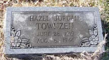TOWNZEN, HAZEL JORDAN - Benton County, Arkansas | HAZEL JORDAN TOWNZEN - Arkansas Gravestone Photos