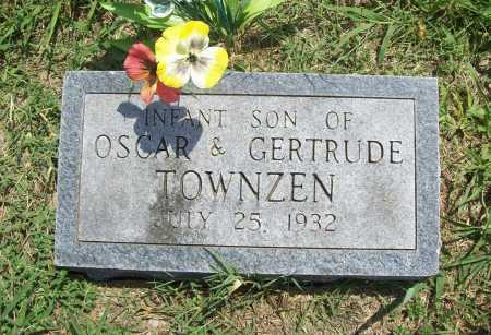 TOWNZEN, INFANT SON - Benton County, Arkansas | INFANT SON TOWNZEN - Arkansas Gravestone Photos