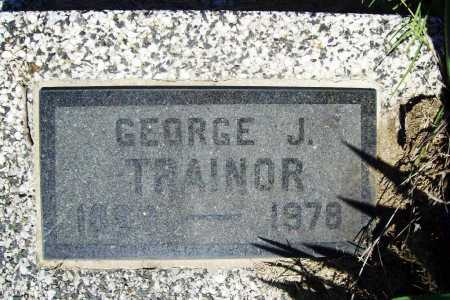 TRAINOR, GEORGE J. - Benton County, Arkansas | GEORGE J. TRAINOR - Arkansas Gravestone Photos