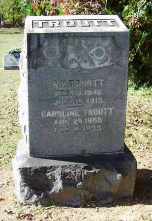 TROUTT, CAROLINE - Benton County, Arkansas | CAROLINE TROUTT - Arkansas Gravestone Photos