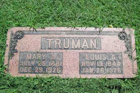 TRUMAN, LOUIS A. - Benton County, Arkansas | LOUIS A. TRUMAN - Arkansas Gravestone Photos