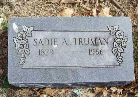 TRUMAN, SADIE A. - Benton County, Arkansas | SADIE A. TRUMAN - Arkansas Gravestone Photos