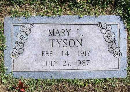 TYSON, MARY L. - Benton County, Arkansas   MARY L. TYSON - Arkansas Gravestone Photos