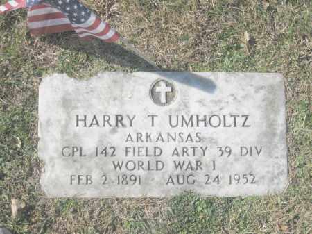 UMHOLTZ (VETERAN WWI), HARRY T. - Benton County, Arkansas | HARRY T. UMHOLTZ (VETERAN WWI) - Arkansas Gravestone Photos