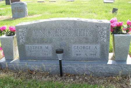 UNDERNEHR, ESTHER M. - Benton County, Arkansas | ESTHER M. UNDERNEHR - Arkansas Gravestone Photos