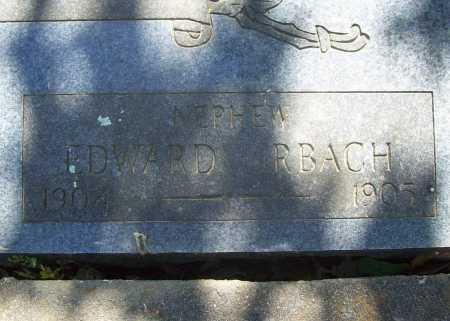 URBACH, EDWARD - Benton County, Arkansas | EDWARD URBACH - Arkansas Gravestone Photos