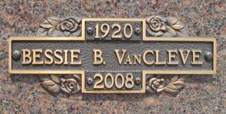 BROOKS VAN CLEVE, BESSIE - Benton County, Arkansas   BESSIE BROOKS VAN CLEVE - Arkansas Gravestone Photos