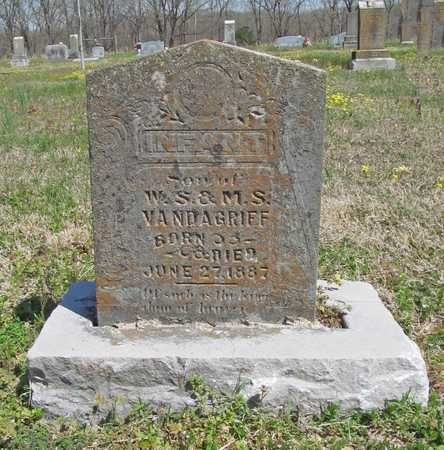 VANDAGRIFF, INFANT SON - Benton County, Arkansas | INFANT SON VANDAGRIFF - Arkansas Gravestone Photos