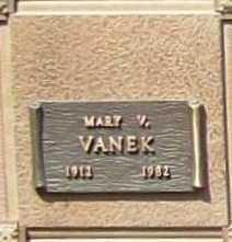 VANEK, MARY V. - Benton County, Arkansas   MARY V. VANEK - Arkansas Gravestone Photos