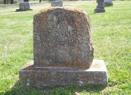 OAKES VINSON, ARRA P. - Benton County, Arkansas | ARRA P. OAKES VINSON - Arkansas Gravestone Photos