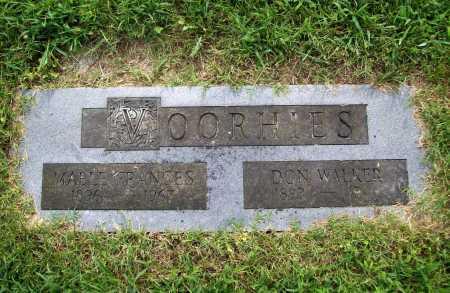 VOORHIES, MABLE FRANCES - Benton County, Arkansas   MABLE FRANCES VOORHIES - Arkansas Gravestone Photos