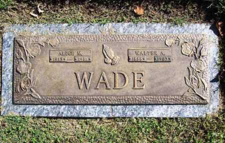WADE, WALTER A. - Benton County, Arkansas | WALTER A. WADE - Arkansas Gravestone Photos