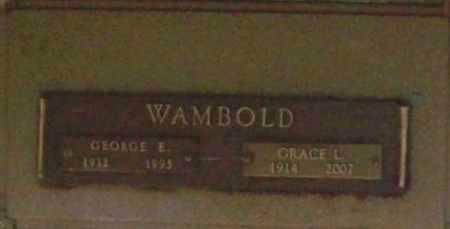 WAMBOLD, GRACE L. - Benton County, Arkansas   GRACE L. WAMBOLD - Arkansas Gravestone Photos