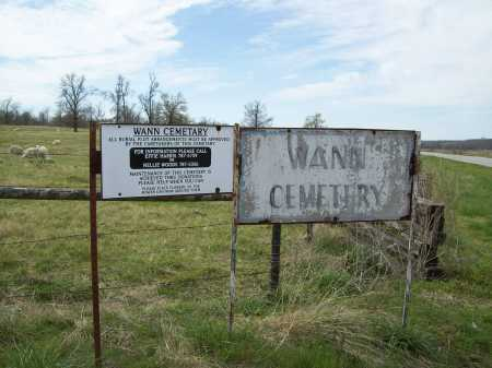 *WANN CEMETERY,  - Benton County, Arkansas |  *WANN CEMETERY - Arkansas Gravestone Photos