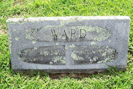 WARD, JOHN W. - Benton County, Arkansas | JOHN W. WARD - Arkansas Gravestone Photos