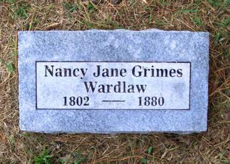 GRIMES WARDLAW, NANCY JANE - Benton County, Arkansas   NANCY JANE GRIMES WARDLAW - Arkansas Gravestone Photos