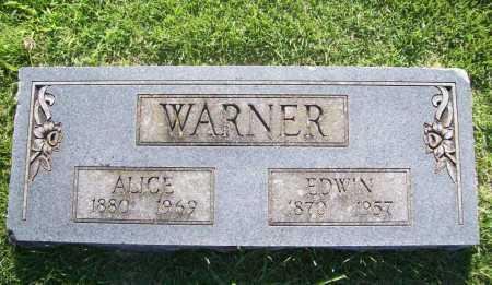 WARNER, EDWIN - Benton County, Arkansas   EDWIN WARNER - Arkansas Gravestone Photos