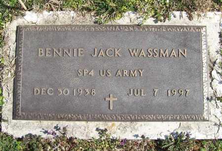 WASSMAN (VETERAN), BENNIE JACK - Benton County, Arkansas | BENNIE JACK WASSMAN (VETERAN) - Arkansas Gravestone Photos