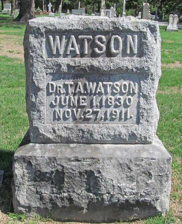 WATSON (VETERAN CSA), THOMAS ANDERSON - Benton County, Arkansas   THOMAS ANDERSON WATSON (VETERAN CSA) - Arkansas Gravestone Photos