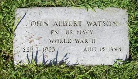 WATSON (VETERAN WWII), JOHN ALBERT - Benton County, Arkansas   JOHN ALBERT WATSON (VETERAN WWII) - Arkansas Gravestone Photos