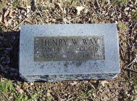 WAY, HENRY W. - Benton County, Arkansas | HENRY W. WAY - Arkansas Gravestone Photos