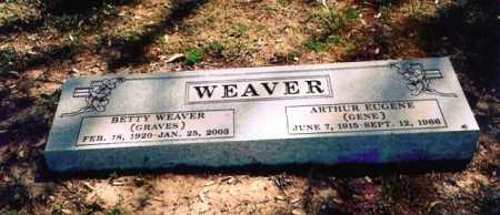WEAVER, BETTY - Benton County, Arkansas | BETTY WEAVER - Arkansas Gravestone Photos