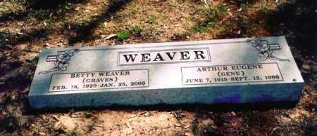 WEAVER, BETTY - Benton County, Arkansas | BETTY WEAVER - Arkansas Gravestone Photos