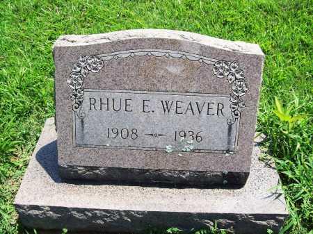 WEAVER, RHUE E. - Benton County, Arkansas   RHUE E. WEAVER - Arkansas Gravestone Photos
