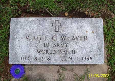 WEAVER (VETERAN WWII), VIRGIL C. - Benton County, Arkansas | VIRGIL C. WEAVER (VETERAN WWII) - Arkansas Gravestone Photos