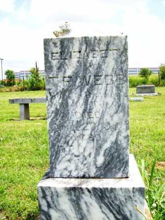 WEBB, ELIZABETH - Benton County, Arkansas   ELIZABETH WEBB - Arkansas Gravestone Photos