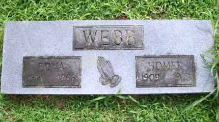 WEBB, HOMER - Benton County, Arkansas | HOMER WEBB - Arkansas Gravestone Photos