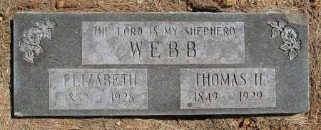 WEBB, THOMAS H. - Benton County, Arkansas | THOMAS H. WEBB - Arkansas Gravestone Photos