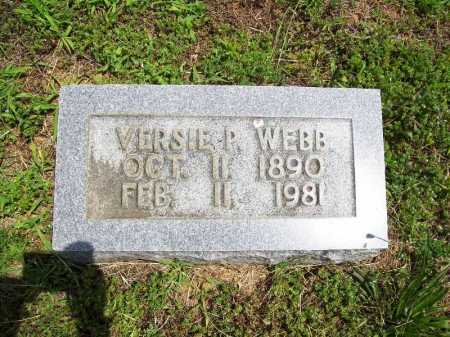 WEBB, VERSIE P. - Benton County, Arkansas | VERSIE P. WEBB - Arkansas Gravestone Photos