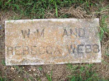 WEBB, REBECCA - Benton County, Arkansas | REBECCA WEBB - Arkansas Gravestone Photos