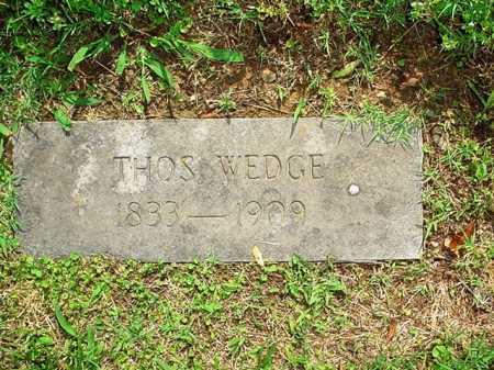 WEDGE, THOMAS - Benton County, Arkansas | THOMAS WEDGE - Arkansas Gravestone Photos