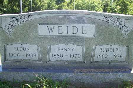 WEIDE, FANNY - Benton County, Arkansas | FANNY WEIDE - Arkansas Gravestone Photos