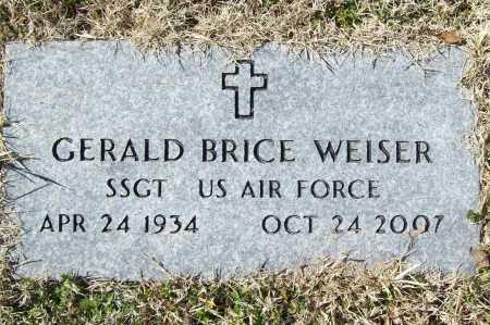 "WEISER (VETERAN), GERALD BRICE ""JERRY"" - Benton County, Arkansas   GERALD BRICE ""JERRY"" WEISER (VETERAN) - Arkansas Gravestone Photos"