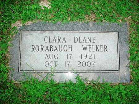 WELKER, CLARA DEANE - Benton County, Arkansas | CLARA DEANE WELKER - Arkansas Gravestone Photos
