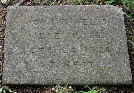 WELLS, JOHN T. - Benton County, Arkansas | JOHN T. WELLS - Arkansas Gravestone Photos