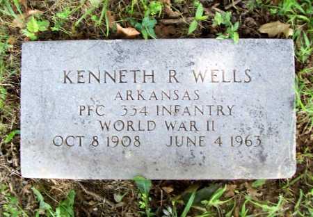 WELLS (VETERAN WWII), KENNETH R. - Benton County, Arkansas | KENNETH R. WELLS (VETERAN WWII) - Arkansas Gravestone Photos